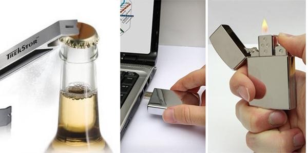 Современны флешки могут быть даже зажигалкой или открывалкой для бутылок