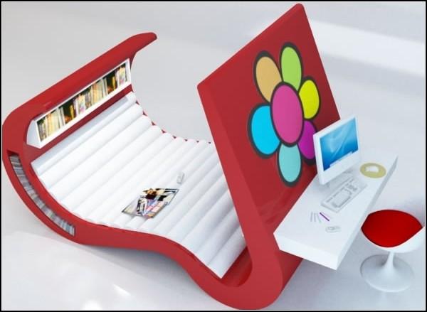 Wave Chaise – универсальная мебель для работы и отдыха. Подросткам, студентам и просто любителям  компактности