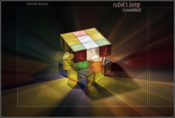 Озадачивающая обстановка: лампа Рубика