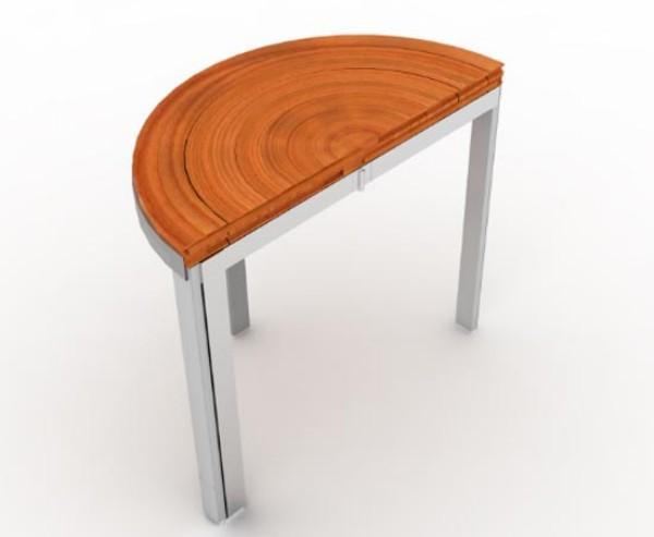 Круглый раздвижной стол RoTension в сложенном виде