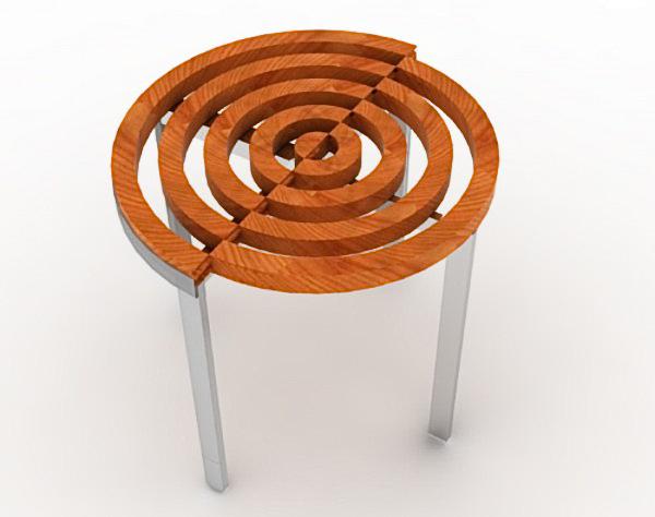 Круглый раздвижной деревянный стол RoTension