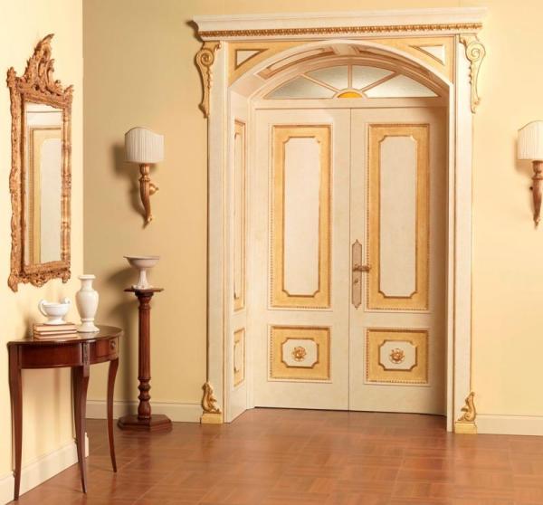 межкомнатные двери с большим стеклом фото