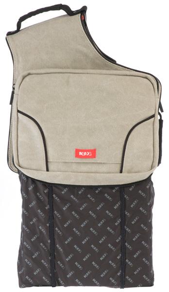 рюкзак в задней части сумки
