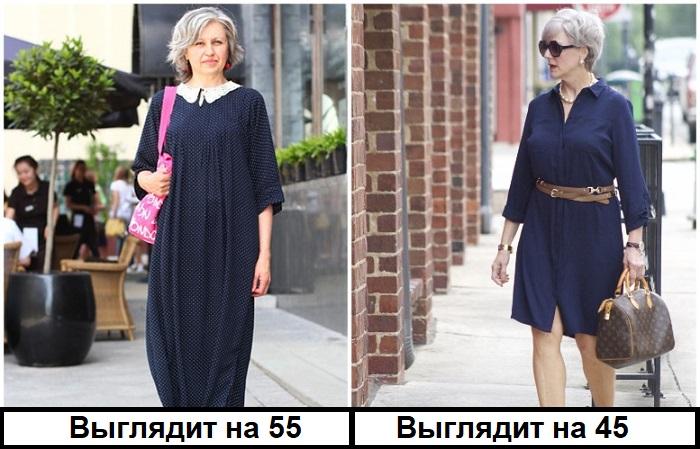 Объемное платье превращает фигуру в прямоугольник
