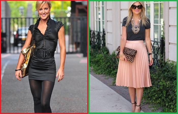 Чтобы юбка смотрелась женственно и элегантно, длина должна быть до колена или чуть ниже