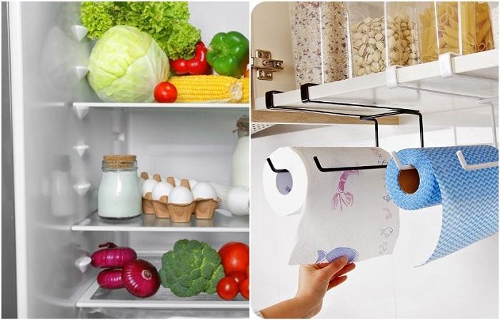Бумажное полотенце в холодильнике хорошо борется с конденсатом