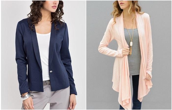 Кардиганы и пиджаки из тонкой ткани бесформенно висят на плечах