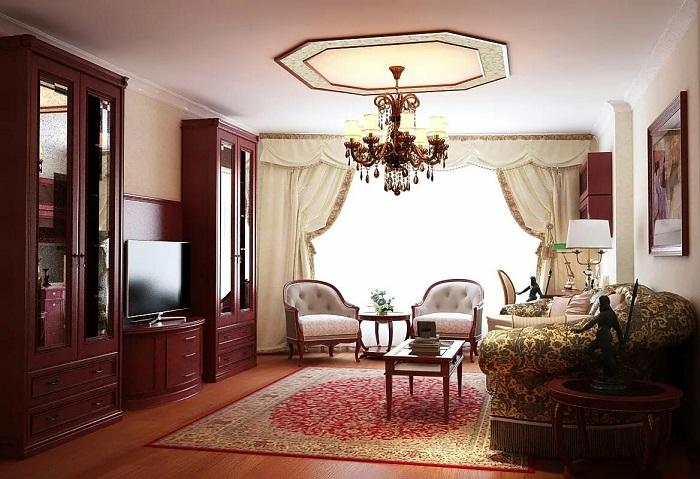 Вычурная мебель в стиле барокко. / Фото: Pinterest.ru