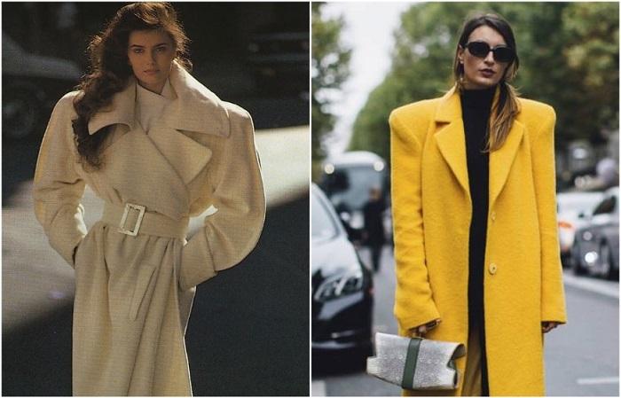 Пальто с объемными плечами - один из хитов 80-90-х годов