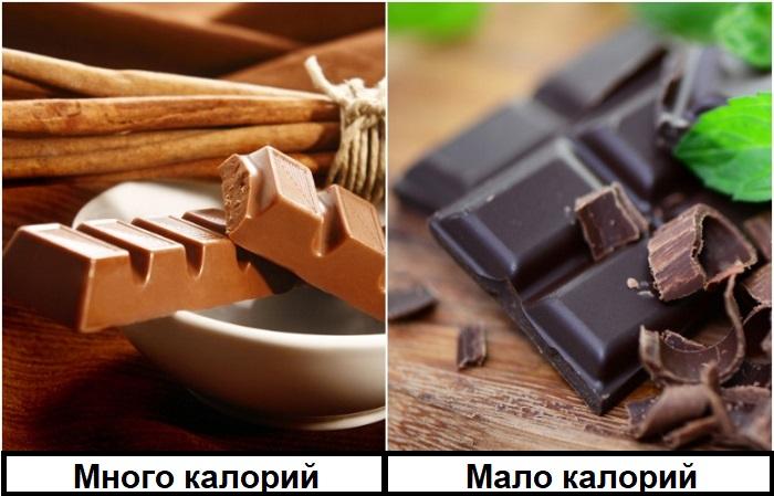 Вместо молочного шоколада выбирайте черный
