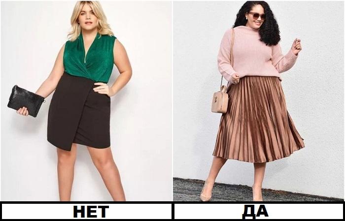 Плиссированная юбка выглядит гораздо эффектнее, чем облегающая модель из плотного материала