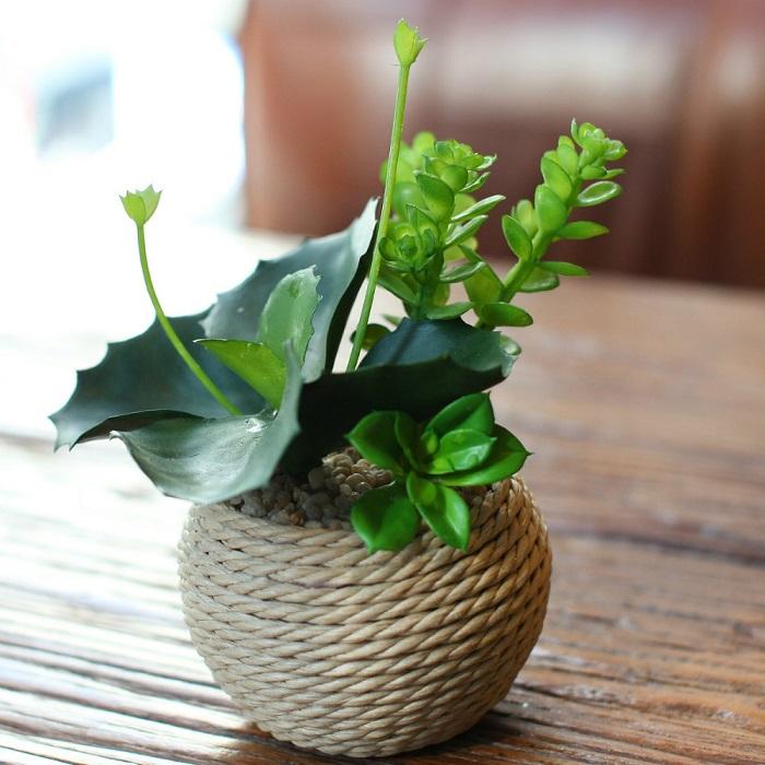 При помощи подручных средств можно создать оригинальный горщок для цветка. / Фото: posuda-gid.ru