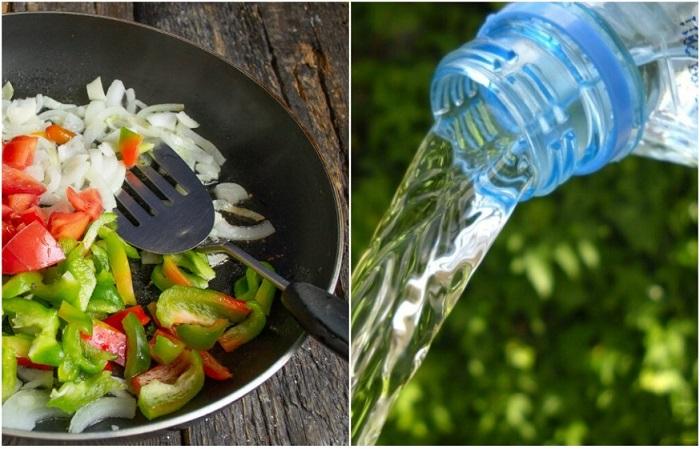 Овощи лучше тушить с минеральной водой