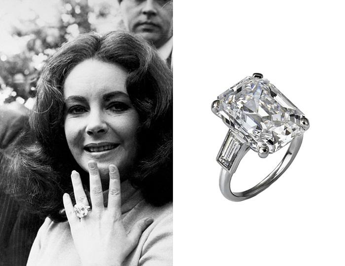 Помолвочное кольцо Элизабет Тейлор. / Фото: bazaar.ru