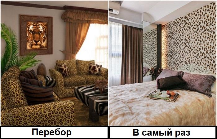 На леопарде нужно делать акцент, а не использовать как основу