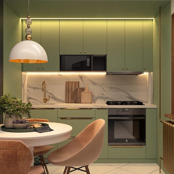 Кроме лампы можно установить встраиваемые светильники. / Фото: Pinterest.com