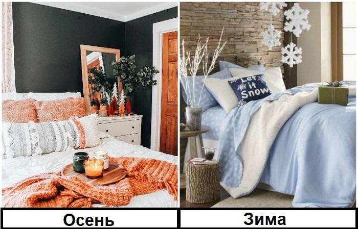 Для каждого сезона подбирайте текстиль своего цвета
