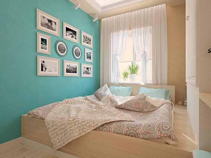 Акцентная стена будет красиво смотреться в любой комнате. / Фото: Dizainexpert.ru