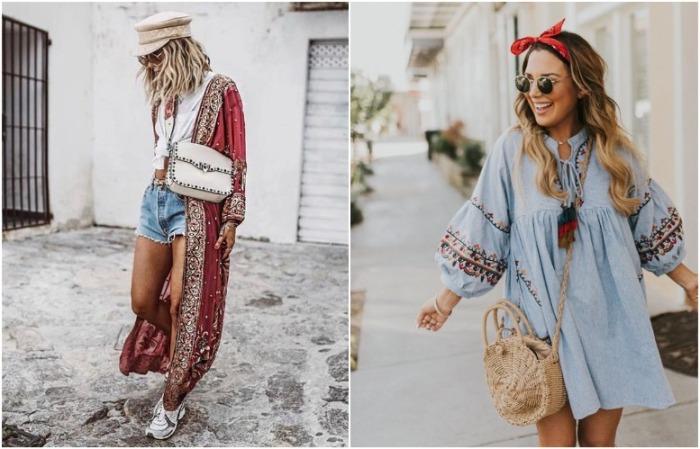 Этнические элементы красиво смотрятся на платье и кардигане