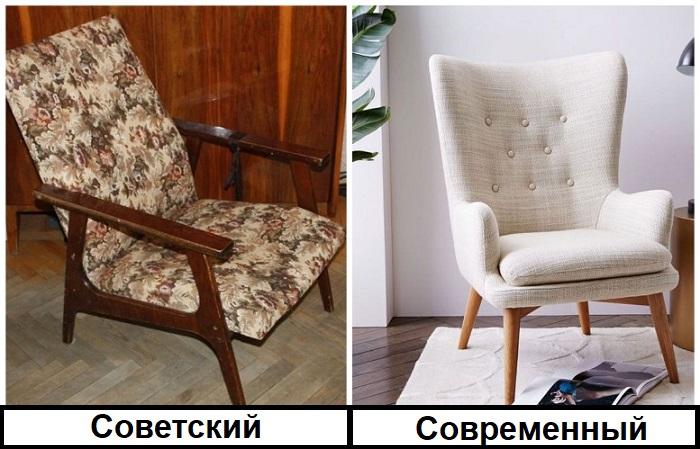 Советское кресло давно потеряло привлекательный внешний вид