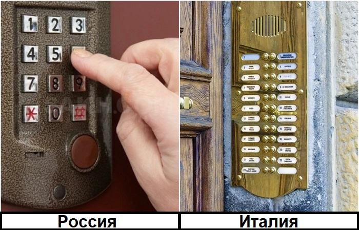 В Италии на домофоне указывают имена владельцев квартир, а в России все анонимно