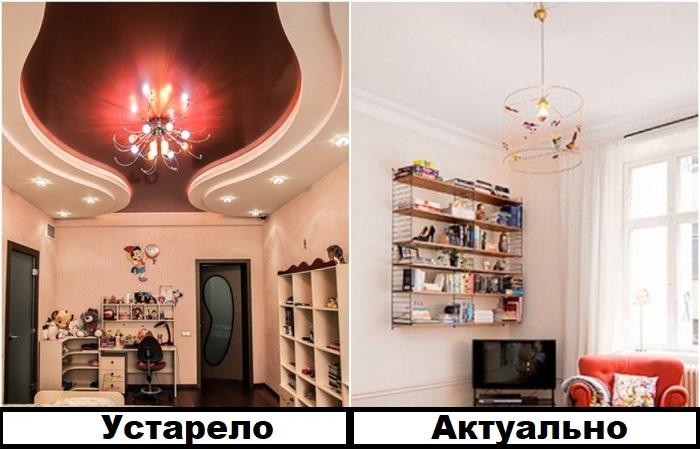 Многоуровневые натяжные потолки утяжеляют пространство