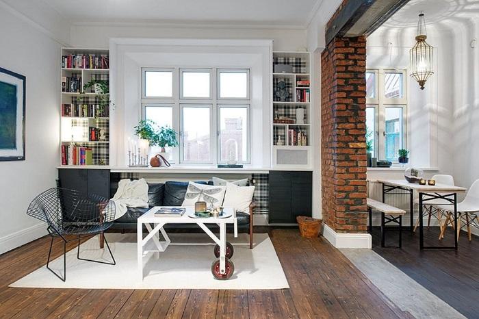 В европейских квартирах практически нет перегородок. / Фото: Pinterest.co.uk