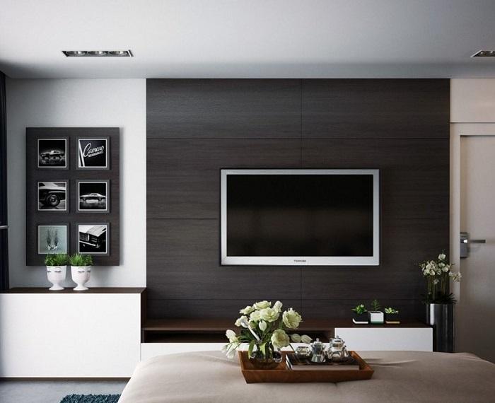 Телевизор - незаменимая часть интерьера. / Фото: design-homes.ru