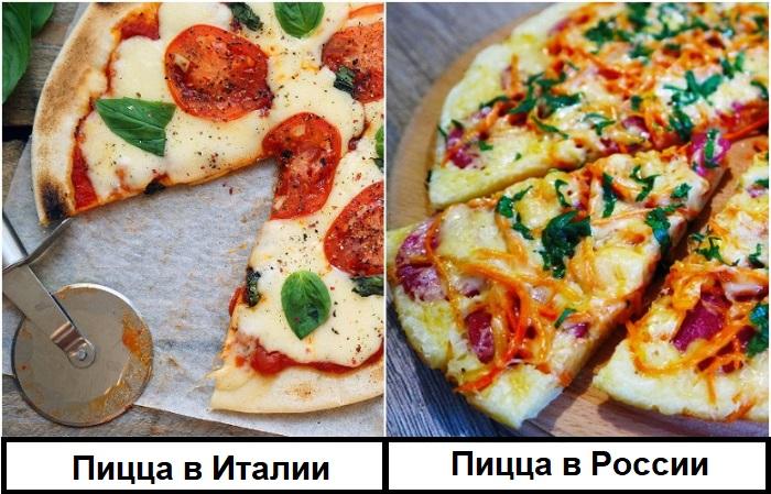 В классическую итальянскую пиццу входит минимум ингредиентов
