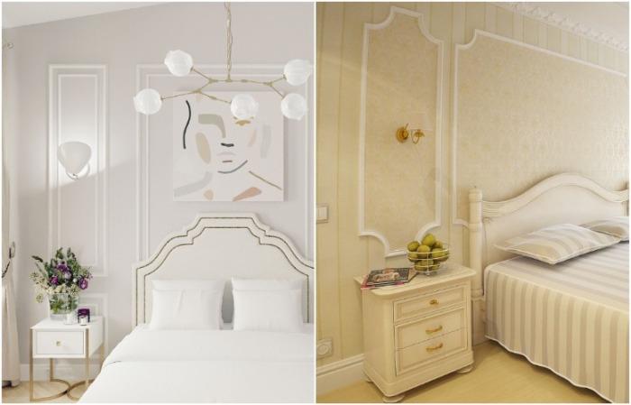 Молдинги могут визуально изменить пропорции комнаты