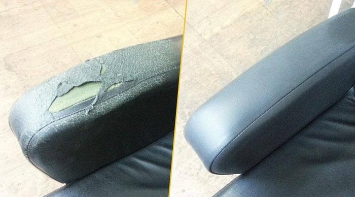Можно обновить обивку не на всем диване, а только на подлокотнике. / Фото: amdplus.ru