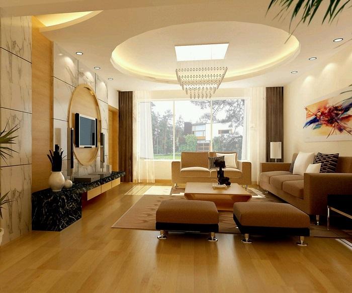 Гипсокартонный многоуровневый потолок с точечными светильниками. / Фото: dekormyhome.ru