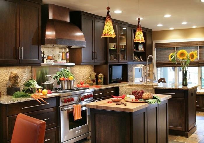 Кухонные острова выполняют много функций. / Фото: Happymodern.ru