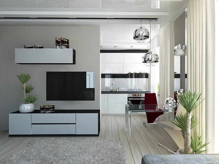 Следует объединить кухню с гостиной. / Фото: fotostrana.ru
