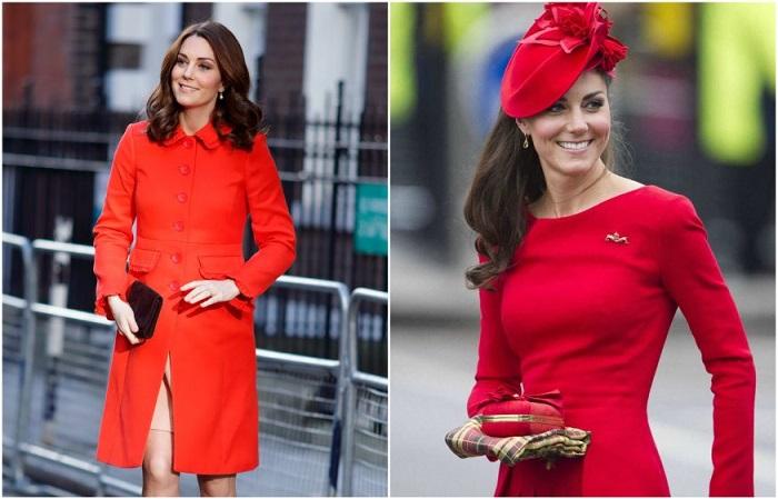 Кейт Миддлтон в одежде красного цвета