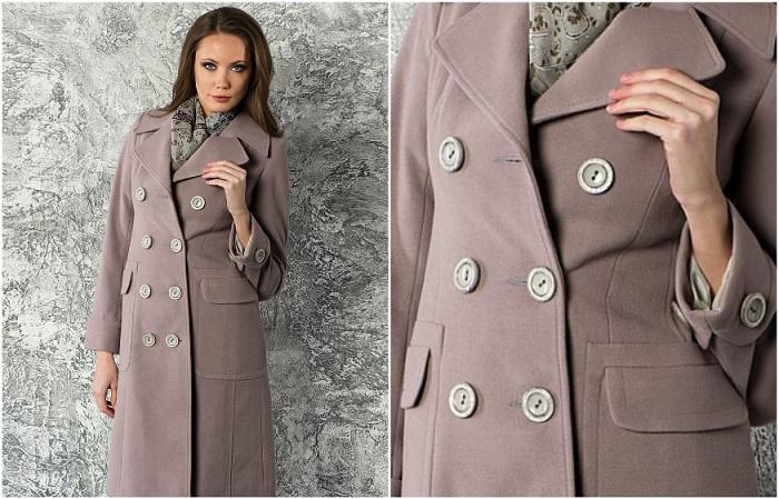 Не выбирайте пальто со светлыми пластиковыми пуговицами