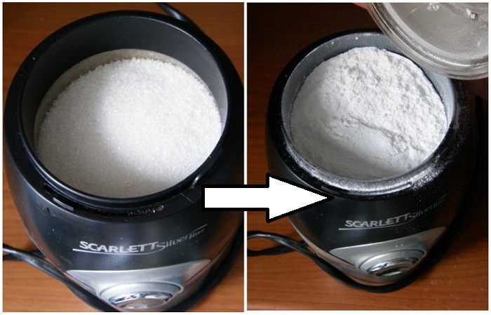 Сахарную пудру можно сделать в кофемолке