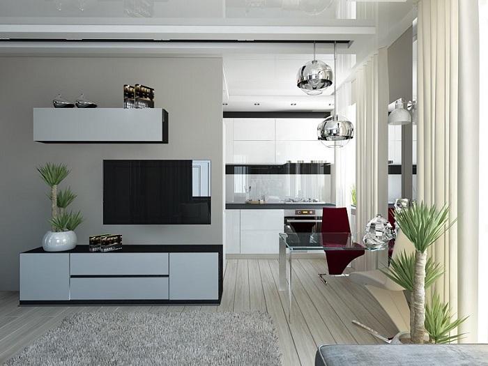 Белый цвет зрительно расширяет пространство. / Фото: pinterest.ru