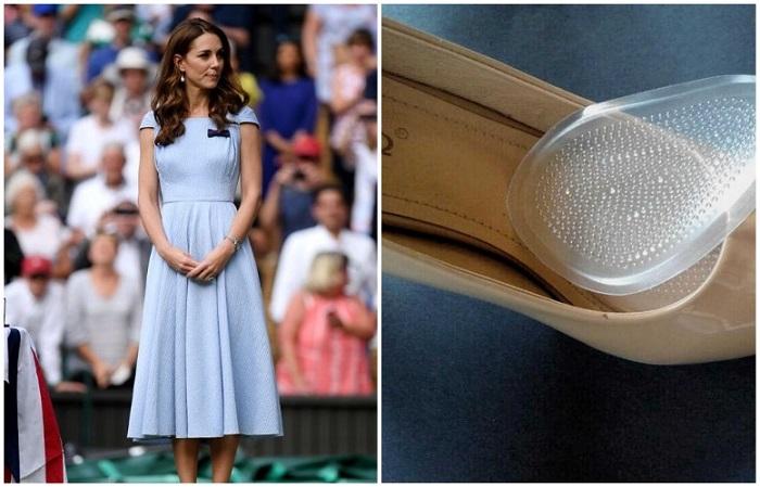 Кейт Миддлтон использует силиконовые вставки для обуви