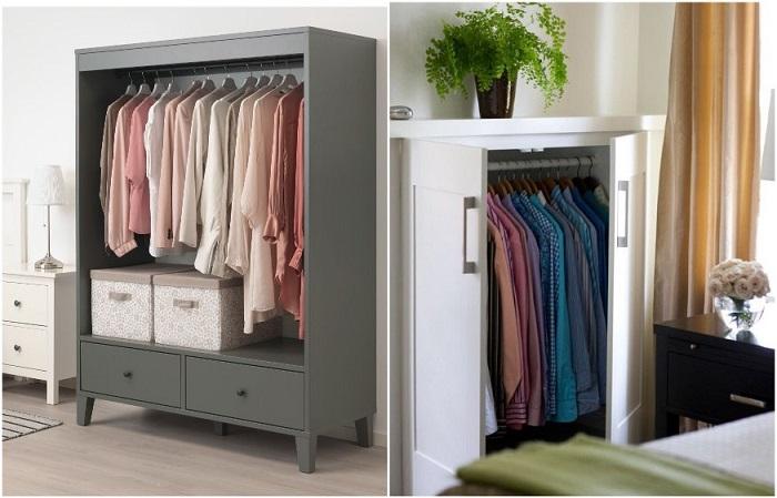 Низкий шкаф занимает столько же времени, сколько и высокий, но вмещает меньше вещей