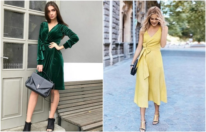 Платья на запах всегда в моде