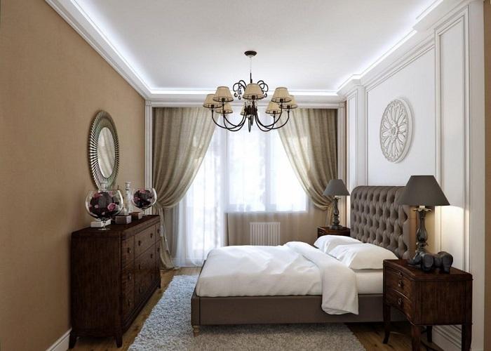 Итальянская спальня лаконичная и нейтральная. / Фото: design-homes.ru