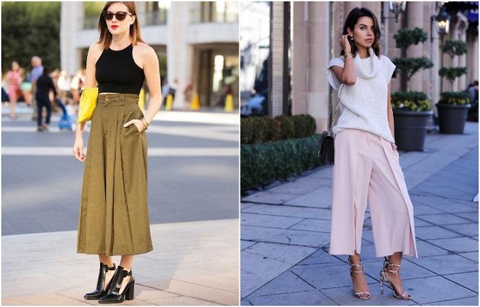 Брюки-юбка - романтичный и модный предмет-гардероба