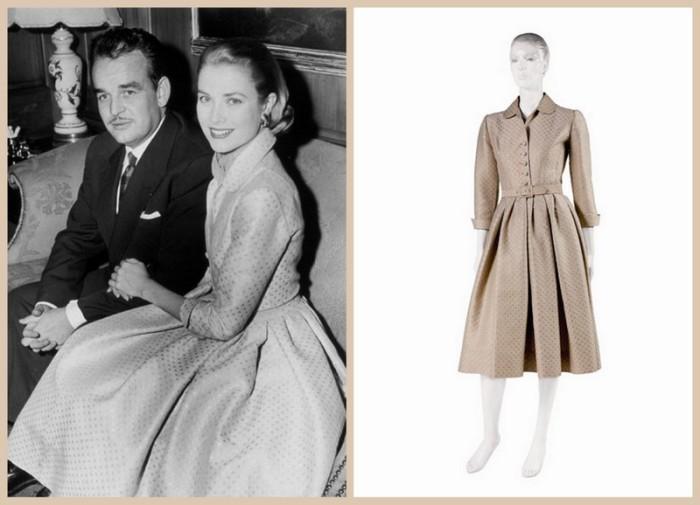 Платье Грейс, выбранное для помолвки с князем Монако. / Фото: 101oblik.ru