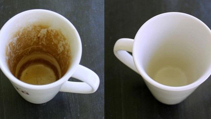 Замочите на ночь чашку с налетом, а наутро она стане чистой. / Фото: sovet.boltai.com