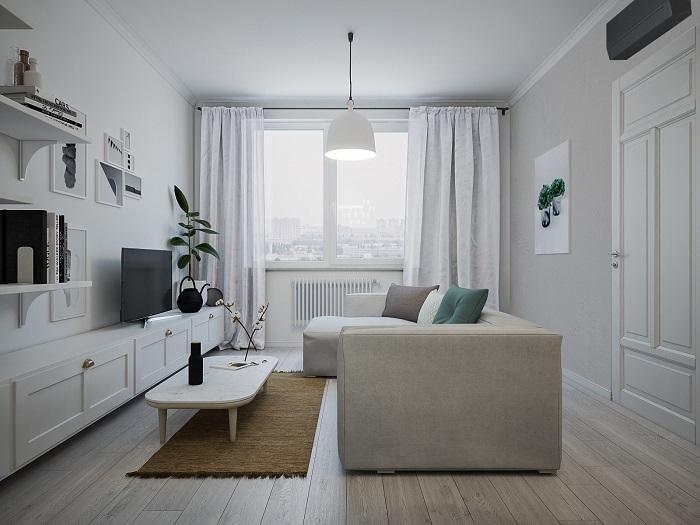 Простой интерьер в светлых тонах может выглядеть стильно. / Фото: sdelai-lestnicu.ru