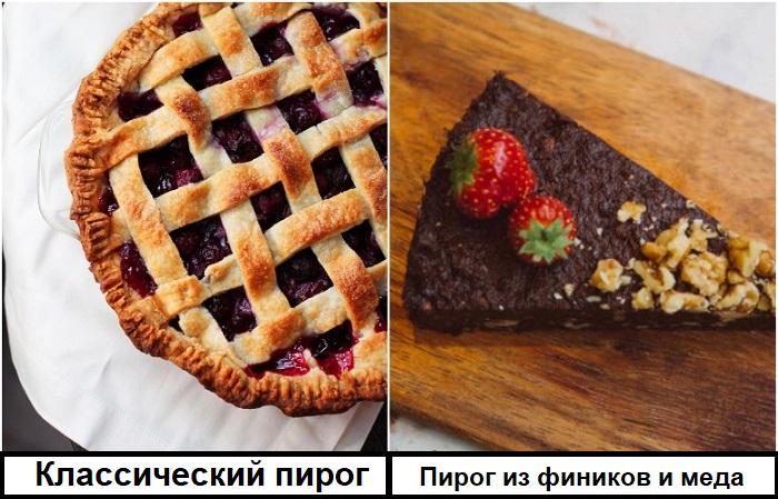 Диетический пирог можно приготовить из фиников, меда и глазури