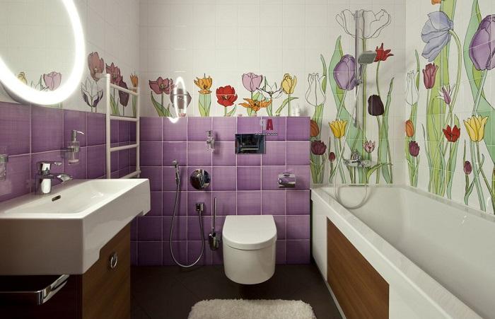 Керамическая плитка с картинками выглядит слишком наляписто. / Фото: Postila.ru
