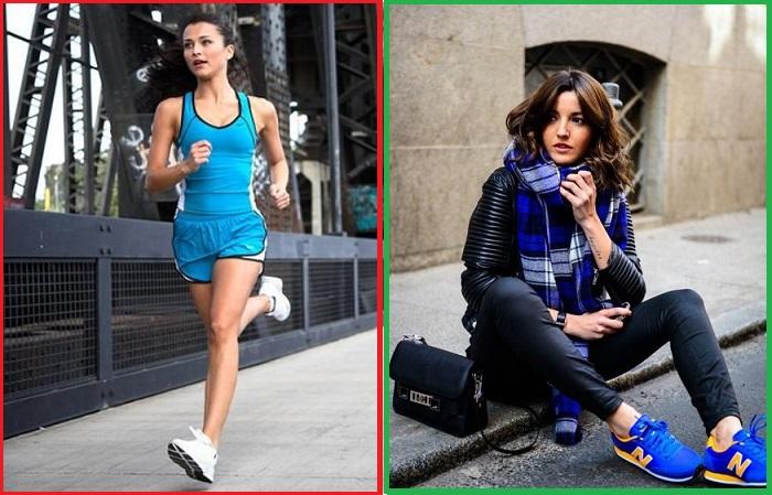 Спортивные кроссовки хорошо вписываются в повседневный гардероб