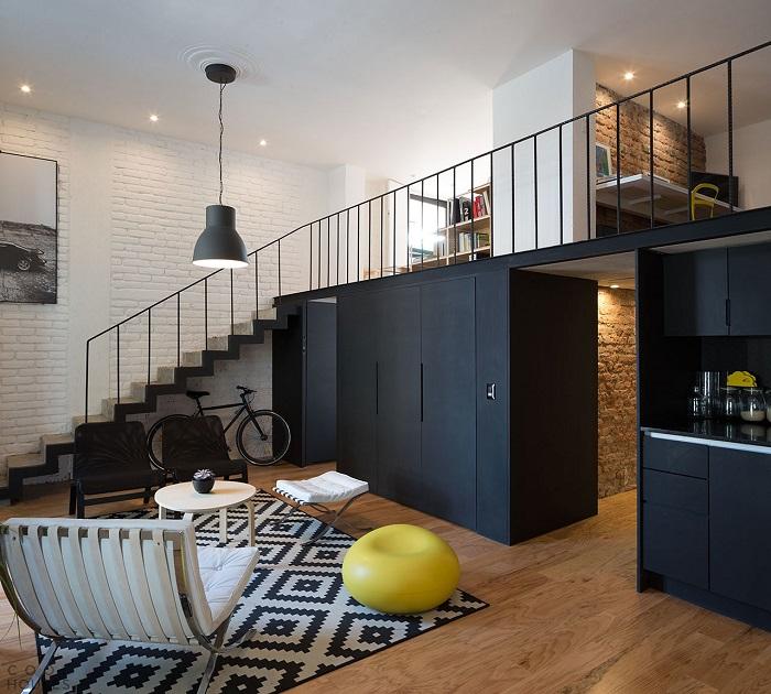 На втором этаже можно разместить одну или две функциональные зоны. / Фото: coolhouses.ru